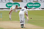 WICKET - Gavin Griffiths has Cameron Steel caught at slip during the Specsavers County Champ Div 2 match between Durham County Cricket Club and Leicestershire County Cricket Club at the Emirates Durham ICG Ground, Chester-le-Street, United Kingdom on 18 August 2019.
