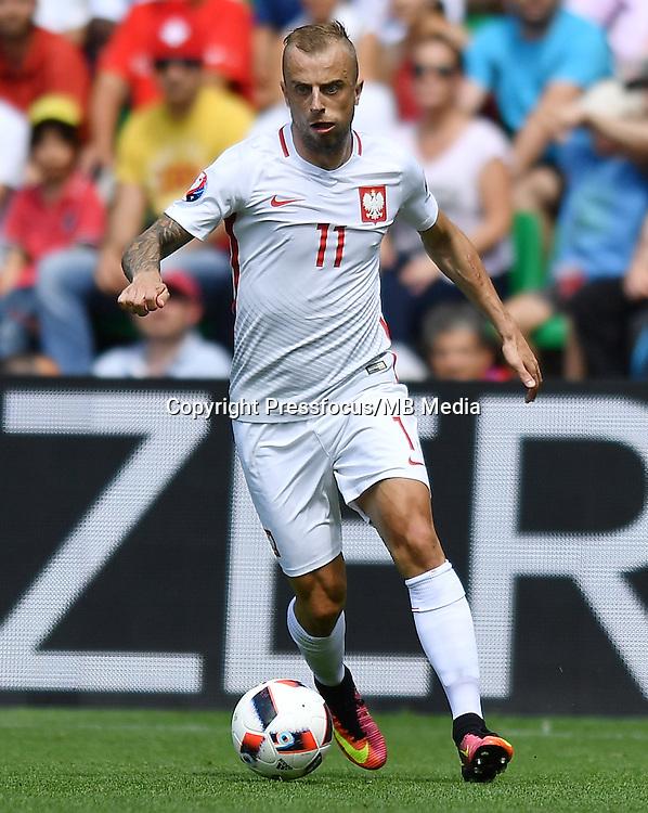 2016.06.25<br /> Football UEFA Euro 2016 <br /> Round of 16 game between Switzerland and Poland<br /> Kamil Grosicki<br /> Credit: Lukasz Laskowski / PressFocus