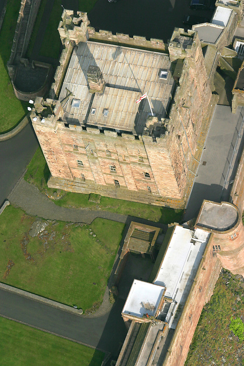 Aerial Shot of Bamburgh Castle, Northumberland