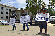 Today at the Mississippi State Capitol. Truth spoken to power by demonstrators in support of Black Lives Matter and the murder of George Floyd and police brutality and systematic racism. In the past 6 days protests and riots have broken out across America in response to the brutal killing of an unarmed African American man by the knee and hands of Minnesota Police <br /> Officers. Photo copyright © @suzialtman #Suzi Altman #protest#peace #blacklivesmatter #georgefloyd #policebrutality #racism #america #mississippi #peacefulprotest #teachlovenothate