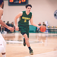 1st year forward, Nick Barnard (5) of the Regina Cougars during the Men's Basketball Home Game on Sat Dec 01 at Centre for Kinesiology,Health and Sport. Credit: Arthur Ward/Arthur Images