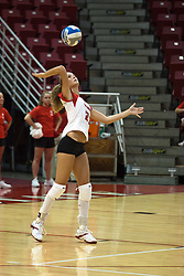 19 AUG 2006  Katie Seyller serves ball..Game action took place at Redbird Arena on the campus of Illinois State University in Normal Illinois.
