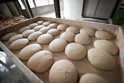 20 February 2020, Za'atari, Jordan: Dough waits to become bread, in a bakery in Za'atari, Jordan.