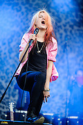 Alison Mosshart/The Kills performing at the Rock A Field Festival in Roeser, Luxembourg on June 23, 2012