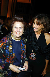 Left to right, DONNA KARAN and SUZY MENKESat a party to celebrate the first 20 years of fashion label Donna Karan held at her store at 19/20 New Bond Street, London W1 on 21st September 2004.<br /><br />NON EXCLUSIVE - WORLD RIGHTS