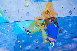 Martina Cufar during friendly competition of Slovenian climbing legends during 10th PDK on November 29, 2015 in Kranj, Slovenia. (Photo By Grega Valancic / Sportida)