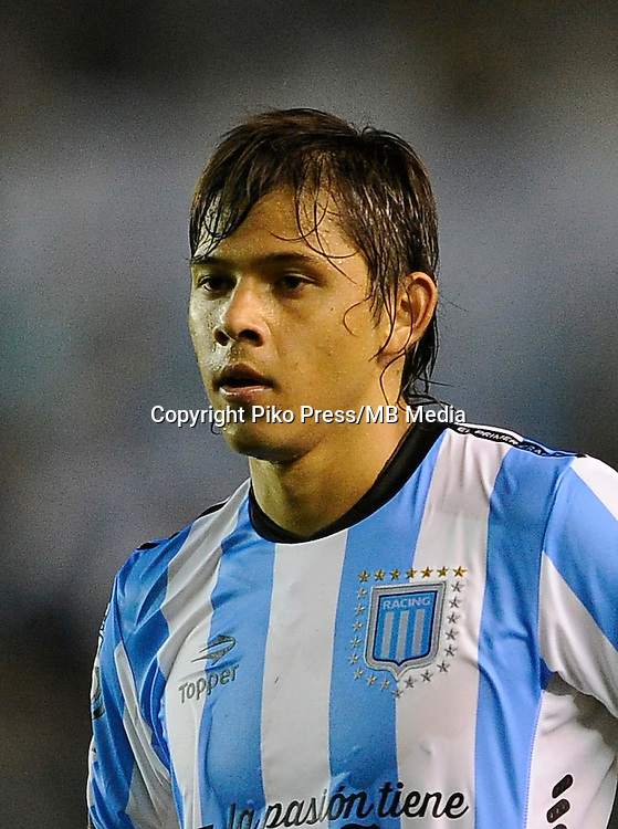 CAMPEONATO ARGENTINO Soccer / Football. <br /> RACING CLUB Portraits <br /> Bs.As. Argentina. - April 14, 2015<br /> Here Racing Club player &Oacute;scar Romero<br /> &copy; PikoPress