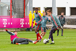 14.03.2019, Säbener Strasse, Muenchen, GER, 1. FBL, FC Bayern Muenchen vs 1. FSV Mainz 05, Training, im Bild v.l. Leon Goretzka (FC Bayern), Kingsley Coman (FC Bayern), Christian Früchtl (FC Bayern) // during a trainings session before the German Bundesliga 26th round match between FC Bayern Muenchen and 1. FSV Mainz 05 at the Säbener Strasse in Muenchen, Germany on 2019/03/14. EXPA Pictures © 2019, PhotoCredit: EXPA/ Lukas Huter