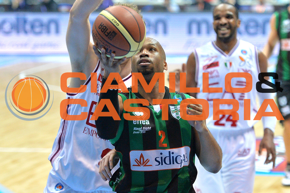 DESCRIZIONE : Final Eight Coppa Italia 2015 Desio Quarti di Finale Olimpia EA7 Emporio Armani Milano - Sidigas Scandone Avellino <br /> GIOCATORE :Gaines Sundiata<br /> CATEGORIA :Tiro<br /> SQUADRA : Sidigas Avellino<br /> EVENTO : Final Eight Coppa Italia 2015 Desio <br /> GARA : Olimpia EA7 Emporio Armani Milano - Sidigas Scandone Avellino <br /> DATA : 20/02/2015 <br /> SPORT : Pallacanestro <br /> AUTORE : Agenzia Ciamillo-Castoria/I.Mancini