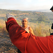 Around eighty men from Macedo de Cavaleiros' Fire Brigade fought three simultaneous criminal forest fires in the remote village of Sezulfe in northern Portugal...The Fire brigade was supported by air by an helicopter and on the ground by several fire trucks, tractors and diggers.