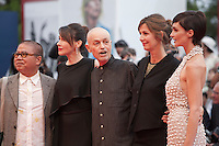 Fruit Chan, Anita Caprioli Jonathan Demme, Alix Delaporte and Paz Vega at the gala screening for the film Everest and opening ceremony at the 72nd Venice Film Festival, Wednesday September 2nd 2015, Venice Lido, Italy.