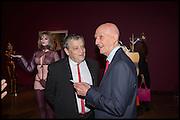SIR NORMAN ROSENTHAL; ALLEN JONES, Allen Jones private view. Royal Academy,  London. 11 November  2014.