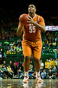 WACO, TX - JANUARY 25: Cameron Ridley #55 of the Texas Longhorns shoots a free-throw against the Baylor Bears on January 25, 2014 at the Ferrell Center in Waco, Texas.  (Photo by Cooper Neill/Getty Images) *** Local Caption *** Cameron Ridley
