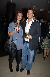 ARABELLA MUSGRAVE and the HON.JAMES TOLLEMACHE at Stelle d'Italia - a celebration of Italian design, fashion and style at The Roof Gardens, 99 Kensington High Street, London on 22nd September 2006.<br />