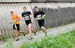 Runners during running race Tek trojk et event Pot ob zici, on May 11, 2013, in Ljubljana, Slovenia. (Photo By Vid Ponikvar / Sportida.com)