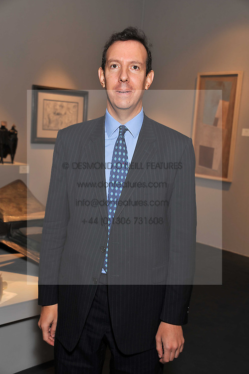 JULIAN TREGER at the judging of the Moet Hennessy PAD  London Prize 2011 as part of the Pavilion of Art & Design  held in Berkeley Square, London on 10th October 2011.