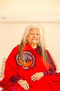 Billie Ruth Martin Hoff, Caddo Indian, Binger Nursing Home, Oklahoma, artist, senior, elder