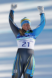 Olympic Winter Games Vancouver 2010 - Olympische Winter Spiele Vancouver 2010, Alpine Skiing (Ladies' Super Combined), Anja PAERSON (SWE) ***Photo by Malte Christians / HOCH ZWEI / SPORTIDA.com.