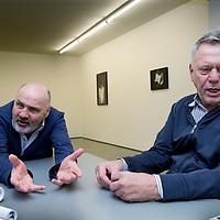 Nederland, Amsterdam, 2 februari 2016.<br />Theatermakers Johan Simons en Theu Boermans.<br /><br /><br /><br />Foto: Jean-Pierre Jans