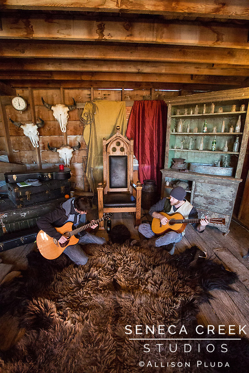 Photo shoot with Laramie, Wyoming's own duo band Dauphin with Jason Burge and Ray Mitchell on the beautiful Prairie Monarch Bison Ranch