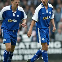 St Johnstone stock 2002-2003 season<br />John Robertson (right) and Ian Maxwell<br /><br />Picture by Graeme Hart.<br />Copyright Perthshire Picture Agency<br />Tel: 01738 623350  Mobile: 07990 594431