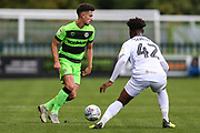 Forest Green Rovers Liam Shephard(2) on the ball during the EFL Sky Bet League 2 match between Forest Green Rovers and Newport County at the New Lawn, Forest Green, United Kingdom on 6 October 2018.