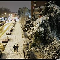Nella foto le Vallette.. Turin under snow, Torino sotto la neve.