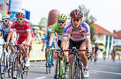 08.07.2016, Stegersbach, AUT, Ö-Tour, Österreich Radrundfahrt, 6. Etappe, Graz nach Stegersbach, im Bild Hermann Pernsteiner (AUT, Amplatz - BMC, Rosa Trikot) // Hermann Pernsteiner (AUT Amplatz - BMC Pink Jersey) during the Tour of Austria, 6th Stage from Gratz to Stegersbach, Austria on 2016/07/08. EXPA Pictures © 2016, PhotoCredit: EXPA/ JFK