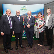 10.10. 2017.          <br /> Pictured at the Limerick Going for Gold 2017 finals in the Strand Hotel were, Mayor of the City and County of Limerick Cllr Stephen Keary with members of the Gouldavoher Residents Association, Brendan Keane, Denis Ryan, Caroline Flahive also pictured is Cllr. John Sheehan.<br /> <br /> <br /> Limerick Going for Gold, which is sponsored by the JP McManus Charitable Foundation, has a total prize pool of over €75,000.  It is organised by Limerick City and County Council and supported by Limerick's Live 95FM, The Limerick Leader and The Limerick Chronicle, The Limerick Post, Parkway Shopping Centre, I Love Limerick and Southern Marketing Media & Design. Picture: Alan Place