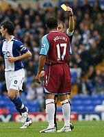 Photo: Steve Bond.<br />Birmingham City v West Ham United. The FA Barclays Premiership. 18/08/2007.  Referee Mike Halsey books Haydon Mullins