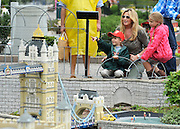 © licensed to London News Pictures. WINDSOR, UK.  09/07/11. Penny Lancaster with her son Alastair (red cap) and niece Raphaella (Pink coat) at Legoland Windsor, today 09 July 2011. Penny Lancaster is married to Rod Stewart.  PERMISSION GRANTED BY PENNY LANCASTER FOR CHILDREN TO BE IDENTIFIED. Mandatory Credit Stephen Simpson/LNP