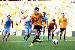 Raul Jimenez of Wolverhampton Wanderers scores a goal to make it 1-1 - Mandatory by-line: Robbie Stephenson/JMP - 25/08/2019 - FOOTBALL - Molineux - Wolverhampton, England - Wolverhampton Wanderers v Burnley - Premier League