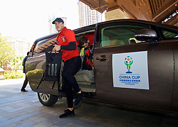 NANNING, CHINA - Tuesday, March 20, 2018: Wales' Gareth Bale arrives at the Wanda Realm Resort ahead of the 2018 Gree China Cup International Football Championship. (Pic by David Rawcliffe/Propaganda)