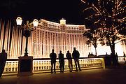 Fountains at Bellagio Resort Hotel and Casino, in Las Vegas, Nevada. USA.