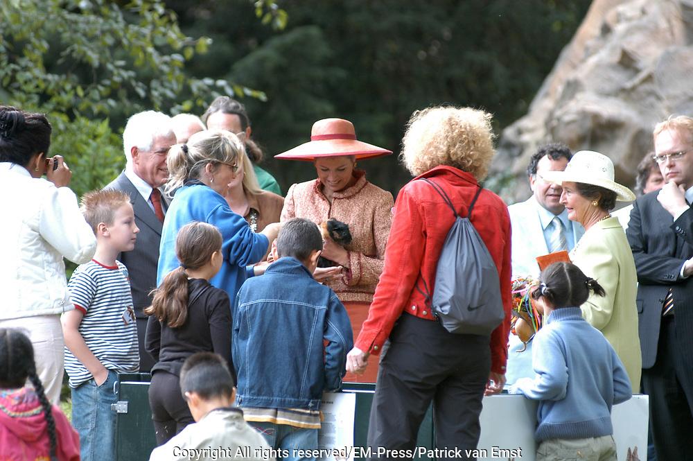 Hare Koninklijke Hoogheid Prinses Máxima der Nederlanden heeft op donderdag 1 juli 2004 de nieuwe Zuid-Amerika Pampa in Artis te Amsterdam geopend. De Prinses zal samen met een groep Amsterdamse schoolkinderen volgens een eeuwenoude Zuid-Amerikaanse traditie de openingshandeling verrichten. <br /> Er is twee jaar gewerkt aan een nieuw verblijf voor Zuid-Amerikaanse dieren en planten. Op dit verblijf, ook wel Pampa genoemd, leeft nu een dwarsdoorsnede van het Zuid-Amerikaanse dierenrijk.  Artis is een samenwerking gestart met El Zoológico de Florencio Varela, een dierentuin in Argentinië. In Florencio Varela wordt een opvang- en fokcentrum ingericht waar verweesde of gewonde reuzenmiereneters worden opgevangen en gerehabiliteerd. Daarna worden ze weer uitgezet in de natuur. <br /> <br /> On Thursday July 1st Princess Maxima opened a new part of the ZOO ARTIS  in Amsterdam, the South American Pampa.