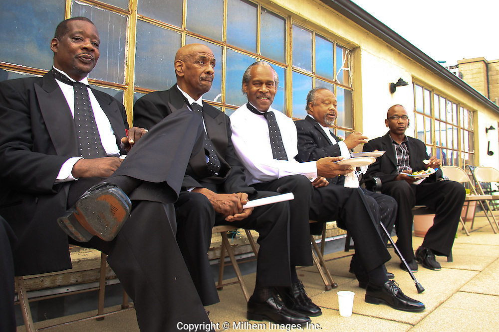 A private reception for Motown legendary group, the Contours who performed on Father's Day at the Central United Methodist Church on Woodward Avenue.
