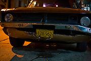 Caracas_VEN, Venezuela...Detalhe da placa de um carro antigo no centro de Caracas, Venezuela...Detail of a old car license plate at Caracas downtown in Caracas, Venezuela...Foto: JOAO MARCOS ROSA / NITRO