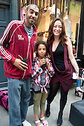 LEEROY THORNHILL; MAISIE BELL THORNHILL; DEE MURRAY, Dirty Pretty Things - summer party. Lingerie line hosts  party celebrating its new online shop and showcasing the latest collection. The Lingerie Collective, 8 Ganton Street, Soho. London, 15 June 2011<br /> <br />  , -DO NOT ARCHIVE-© Copyright Photograph by Dafydd Jones. 248 Clapham Rd. London SW9 0PZ. Tel 0207 820 0771. www.dafjones.com.