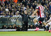 Sheffield United's Manager Chris Wilder during the EFL Sky Bet Championship match between Leeds United and Sheffield Utd at Elland Road, Leeds, England on 27 October 2017. Photo by Paul Thompson.