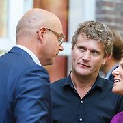 NLD/Amsterdam/20150820 - Najaarspresentatie SBS 2015,............, Alberto Stegeman en Evelien de Bruin in gesprek