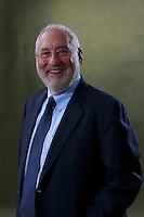 Joseph Stiglitz.<br /> Edinburgh International Book Festival 2014 photos taken in Charlotte Square Gardens. Edinburgh. Pako Mera 25/08/201