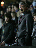 Photo: Paul Thomas.<br /> Blackburn Rovers v Arsenal. The Barclays Premiership. 13/01/2007.<br /> <br /> Arsene Wenger, Arsenal manager.