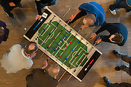 Bereits seine dritte Auflage erlebt das Hafen Akademie Hamburg zugunsten von Hinz&Kunzt.  Laien und Profis, die Lust haben, für den guten Zweck zu kickern. Gespielt wird an Garlando WM-Turnier-Tischen.
