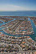 Aerial Stock Photo of Sunset Beach Community in Huntington Beach California