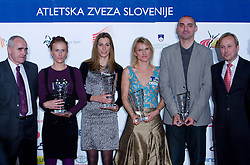 Martin Steiner, Sonja Roman, Marija Sestak, Brigita Langerhol, Matija Sestak and Peter Kukovica  at Best Slovenian athlete of the year ceremony, on November 15, 2008 in Hotel Lev, Ljubljana, Slovenia. (Photo by Vid Ponikvar / Sportida)