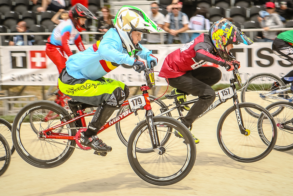 2018 UCI World Championships<br /> Baku, Azerbaijan<br /> 10 Boys #157 (LEJNIEKS Henrijs) LAT<br /> 11 Boys #179 (BOSCH Axl) BEL