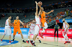 Giorgi Shermadini of Georgia vs Worthy de Jong of Netherlands during basketball match between Georgia and Netherlands at Day 1 in Group C of FIBA Europe Eurobasket 2015, on September 5, 2015, in Arena Zagreb, Croatia. Photo by Vid Ponikvar / Sportida