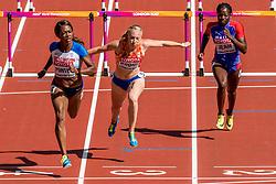 11-08-2017 IAAF World Championships Athletics day 8, London<br /> Eefje Boons NED (100m horden) plaatst zich niet voor de volgende ronde
