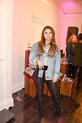 Mimi Bouchard at the Sunkissed Cosmetics Launch,  15 Bateman Street, Soho, London England. 17 January 2018.