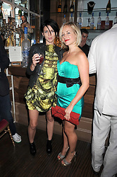 Left to right, LIBERTY ROSS and TAMSIN LONSDALE at a party hosted by the Supper Club in honour of Mary Greenwell held at Beach Blanket Babylon, Ledbury Road, London on 25th June 2008.<br />